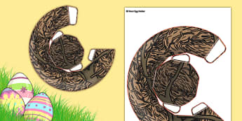 3D Nest Egg Holder Activity - activities, eggs, nests, crafts