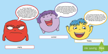 Mood Monsters Display Cut-Outs - EYFS, Early Years, KS1, Key Stage 1, Display, Mood Monsters, All About Me, Ourselves, Emotions, Feel
