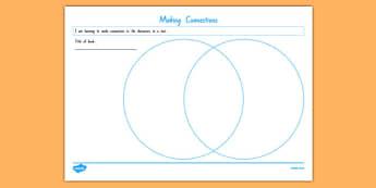 Making Connections Venn Diagram Activity Sheet, worksheet