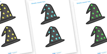 Editable Wizards Hats - Wizards hat, hat, editable, display hat, A4