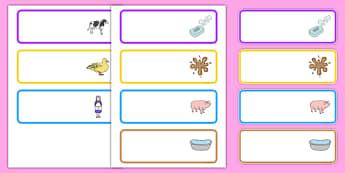 Washerwoman Editable Drawer Peg Name Labels - mrs wishy washy, washerwoman, drawer, peg, name, labels