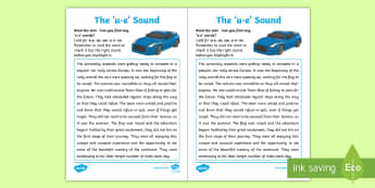 Northern Ireland Linguistic Phonics Stage 5 and 6, Phase 4b, 'u_e' Text Activity Sheet  - NI, Worksheet, sound search, text