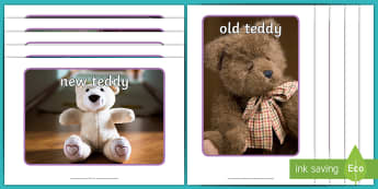Old and New Teddy Bears Display Photos - EYFS Bears, toys, teddies, teddy bears, old and new, History, Understanding the World.