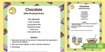 Edible Chocolate Playdough Recipe