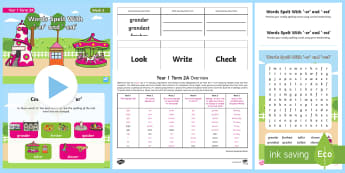 Year 1 Term 2A Week 5 Spelling Pack - Spelling Lists, Word Lists, Spring Term, List Pack, SPaG