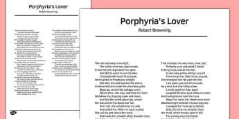Porphyria's Lover by Robert Browning Poem - poem, poetry, lover