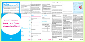 KS2 SATs Survival: Parents' Information Resource Pack - SATs Survival Materials Year 6, SATs, assessment, 2017, English, SPaG, GPS, grammar, punctuation, sp