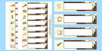 Eagle Themed Writing Area Editable Gratnell Tray Labels - eagle, writing
