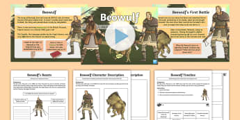 KS2 Beowulf PowerPoint Pack - Legend, Anglo-Saxons, Danes, Poetry, Settlers