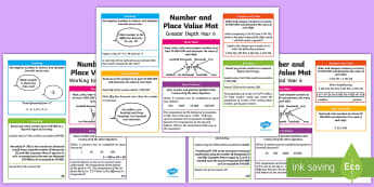 Year 6 Number and Place Value Differentiated Maths Mat - Key Stage 2, KS2, Year 6 , Y6, Maths Mat, Number, Place Value, Ordering, Comparing, Read, Write