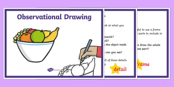 Observational Drawing Tips Display Posters - observational drawing tips, display, poster, sign, oberserve, drawing tips, tips, drawing, draw, obeservational, observing, how to draw
