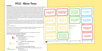 Point Evidence Explanation Activity Oliver Twist - point, evidence, explanation, oliver twist