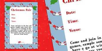 Christmas Fair Poster - PTA poster, christmas fayre, fayre, christmas, poster, display