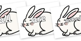 Tricky Words on Chinese New Year Rabbit - Tricky words, DfES Letters and Sounds, Letters and sounds, display, words