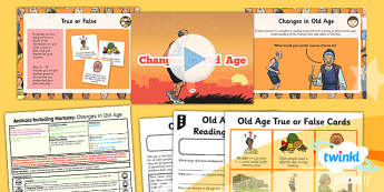 Science: Animals Including Humans: Changes in Old Age Year 5 Lesson Pack 4