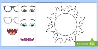 Mr Sun Summer Art Activity Sheet - ROI, Summer, Art, Sun, Activity Sheet, Sunshine,Irish worksheet
