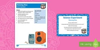 EYFS Dancing Rice Science Experiment and Prompt Card Pack