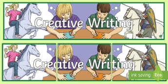 Creative Writing Display Banner - NI  Literacy, creative, imagination, writing