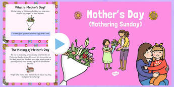 When is Mother's Day- mothers day, presentation, assembly, PowerPoint, mothering sunday