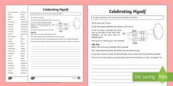 Celebrating Myself Activity Sheet - PDMU Razzle Dazzle Celebrating Myself Year 7,worksheet,work sheets