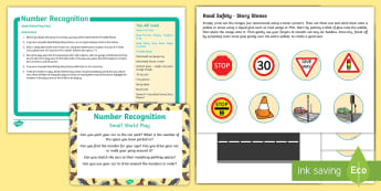 Number Recognition Cars and Ponies Small World Play Idea and Printable Resource Pack - maths, Numeracy, learning through play, numeral, smallworld, vehicles, horses, road