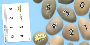 Five Little Monkeys Teasing Mr Crocodile Story Stone Image Cut Outs - Story stones, stone art, painted rocks,  story telling, number rhymes, counting rhyme, maths