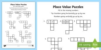 Year 2 Place Value Puzzles Activity Sheet -  Mathematics, ACMNA026, australian curriculum, numbers and algebra, worksheet, ,Australia