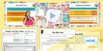 PlanIt Y5 Number and Place Value Lesson Pack Read and Write Numbers (1) - digit, numeral, place value, million, numbers, words, plan, presentation, figures