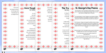 Elderly Care St George's Day Poems - Elderly, Reminiscence, Care Homes, St. George's Day