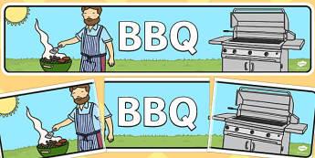 BBQ Banner - bbq, banner, display, display banner, barbeque