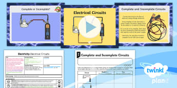 PlanIt - Science Year 4 - Electricity Lesson 3: Electrical Circuits Lesson Pack - planit, science, year 4, electricity