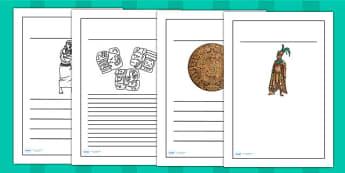 Ancient Mayans Writing Frames - mayan, mexico, history, writing