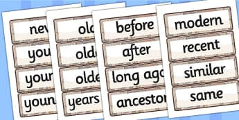 General History Word Cards - history, word cards, history words
