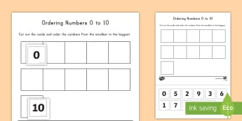 Ordering Numbers 0 to 10 Activity - ordering, math, 0 to 10, numbers, recognition