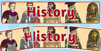 History Display Banner KS2 - history, display, banner, ks2, old
