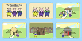 The Three Little Pigs Story Sequencing Polish Translation - polish, Three little pigs, sequencing, traditional tales, tale, fairy tale, pigs, wolf, straw house, wood house, brick house, huff and puff, chinny chin chin