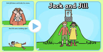 Jack and Jill PowerPoint - jack and jill, jack and jill nursery rhyme powerpoint, nursery rhyme powerpoint, nursery rhymes, jack and jill sequencing