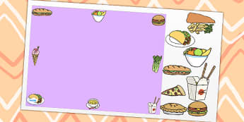 Food Themed Editable PowerPoint Background Template - food, editable powerpoint, powerpoint, background template, themed powerpoint, editable, food themed