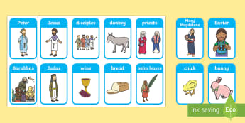 Easter Themed Flashcards - Easter, flashcards, topic words