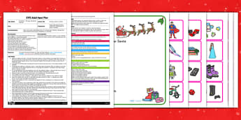 Writing a Letter to Santa EYFS Adult Input Plan and Resource Pack - writing, letter, santa, adult, pack