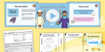 PlanIt - RE Year 2 - Rules and Routine Lesson 4: The Five Pillars of Islam Lesson Pack - Rules and Routine, RE, Islam, Muslims, Five Pillars, Christianity, Judaism, Sikhism, humanism