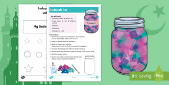 KS1 Ramadan Sadaqah Jar Craft Activity - Ramadan, Eid, Eid-ul-fitr, Eid ul fitr, muslim, islam, qur'an, assembly, ks1, key stage one, key s