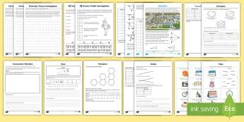 KS2 Maths Investigation Resource Pack - Problem Solving, Reasoning, Sequences, Towers, Networks, Time, Applying