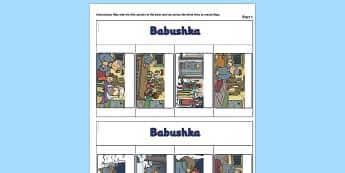 Babushka Story Writing Flap Book - flap book, babushka, story