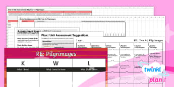PlanIt - RE Year 4 - Pilgrimages Unit Assessment Pack - Pilgrimages, RE, religion, religious, education, pilgrims, christianity, christian, jewish, jews, ju