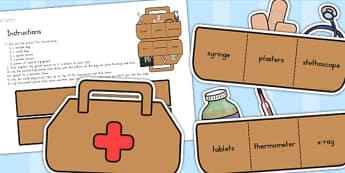 Doctors Surgery Doctors Bag - doctors role play, props, doctor