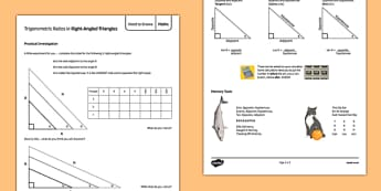 Maths Need To Knows Trigonometric Ratios in Right Angled Triangles - Maths, KS3, KS4, Geometry, Angles, Trigonometry, Right-Angled Triangles, trigonometric ratios, tan, cos, sin,