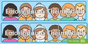 Baner Arddangos Emosiynau a Theimladau - Emosiynau, Teimladau, Baner, Arddangos, Ardal, Chwarae, Rôl, Feelings, Emotions, Display, Banner, R