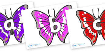 Phoneme Set on Emperor Butterflies - Phoneme set, phonemes, phoneme, Letters and Sounds, DfES, display, Phase 1, Phase 2, Phase 3, Phase 5, Foundation, Literacy