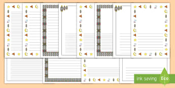 Ramadan Page Border Pack - Ramadan, Islamic, Islam, fasting, lunar, calendar, Qur'an, eid